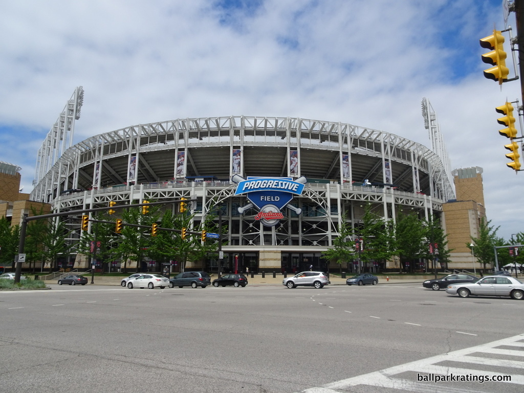 Progressive Field exterior architecture design