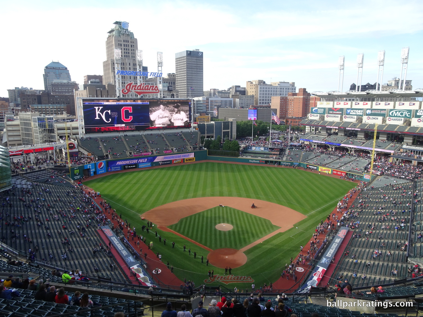 Progressive Field panoramic view