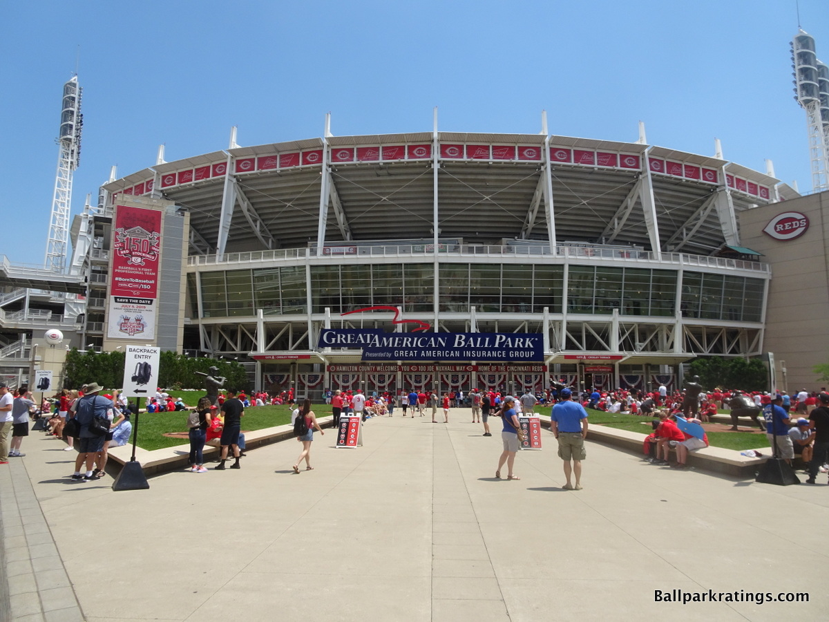 Great American Ballpark exterior architecture
