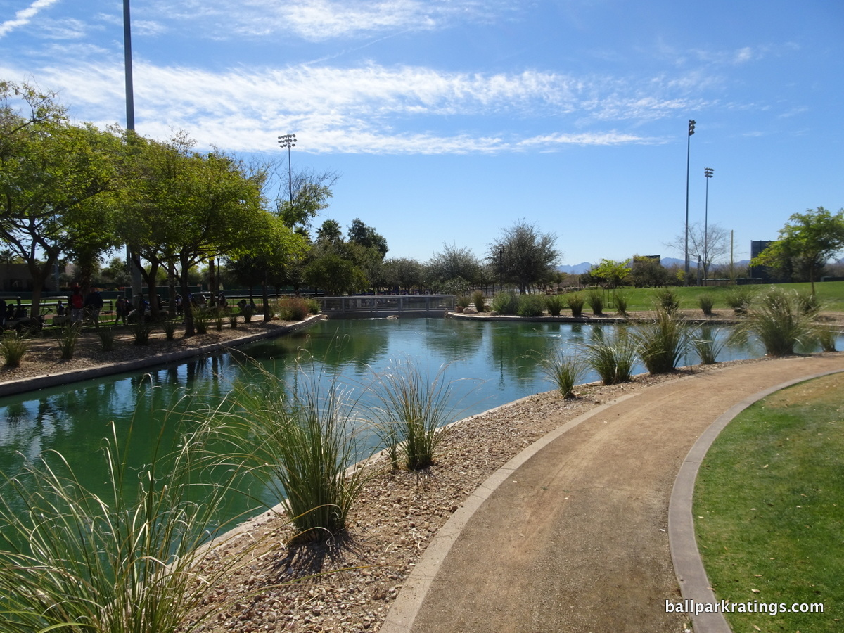 Camelback Ranch lake landscaping