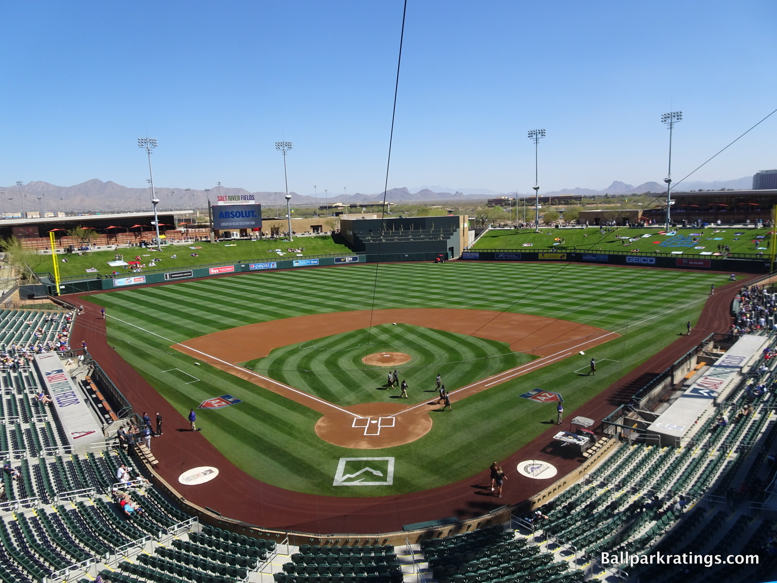 Salt River Fields at Talking Stick Pepsi Patio Mountain Views