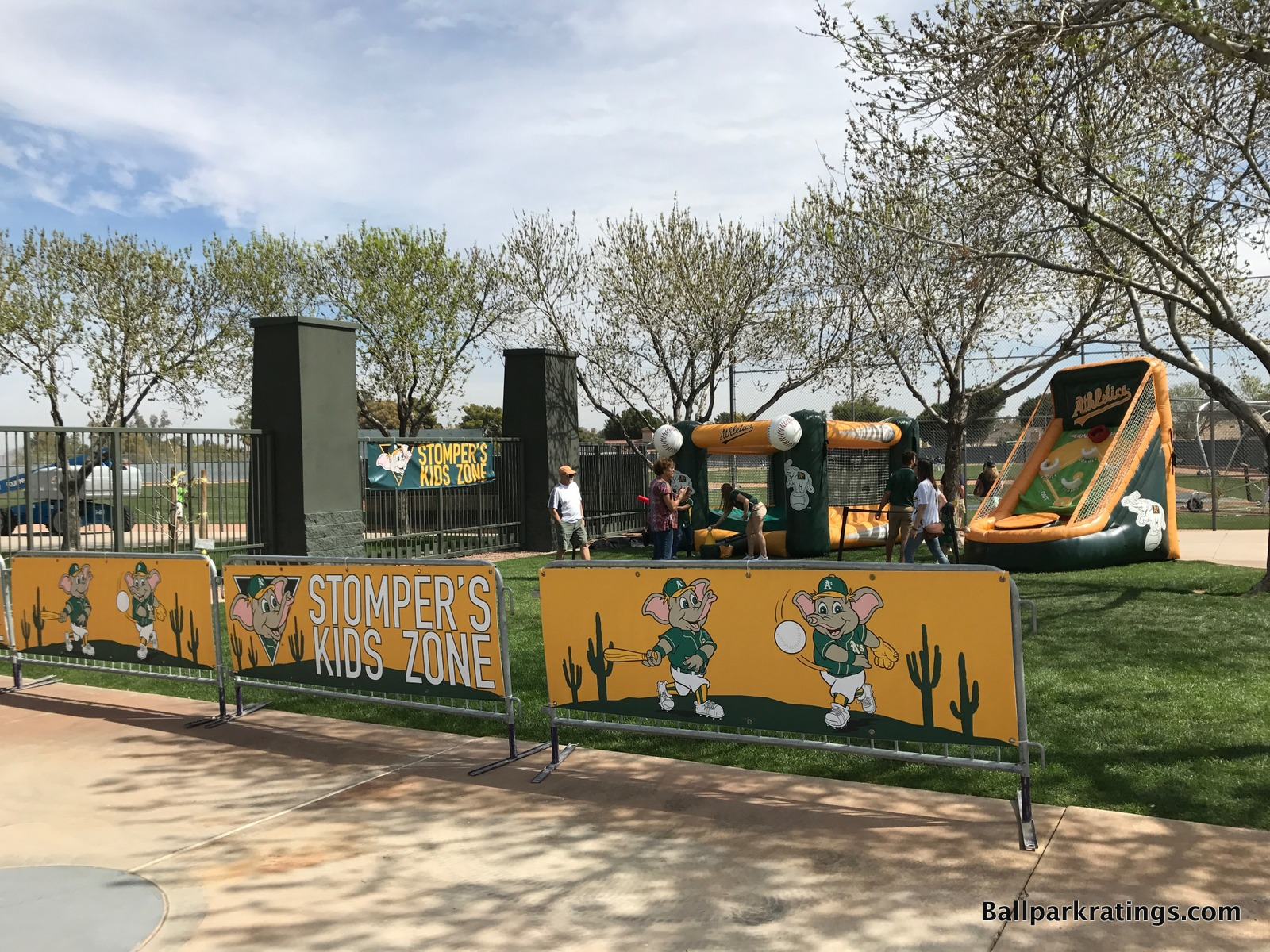 Stomper's Kids Zone at HohoKam Stadium.