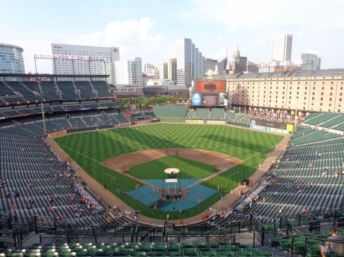 Camden Yards panoramic view