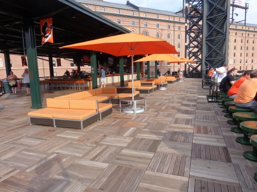 Camden Yards rooftop bar