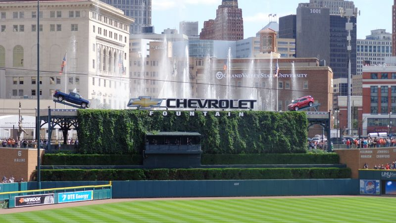 Comerica Park fountains