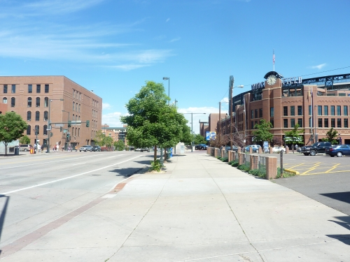 Coors Field exterior LoDo