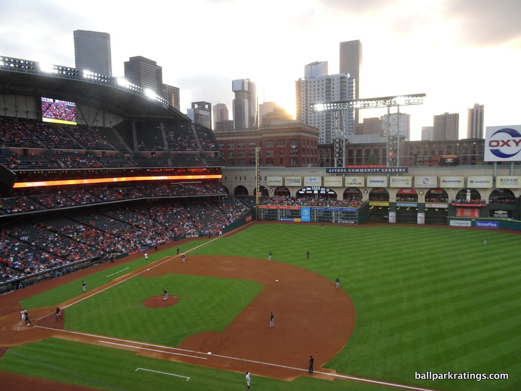 Minute Maid Park downtown view