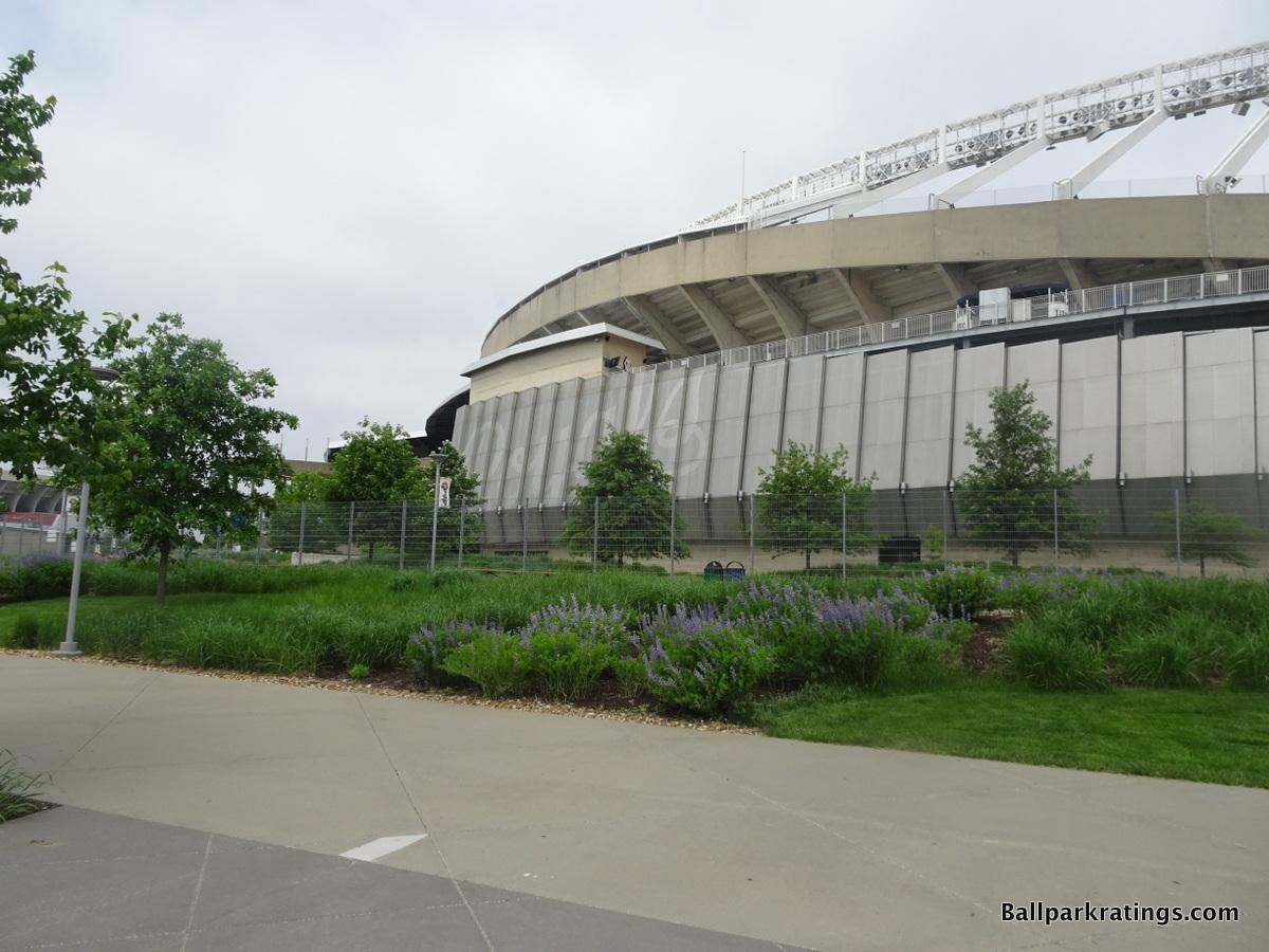 Kauffman Stadium architecture exterior