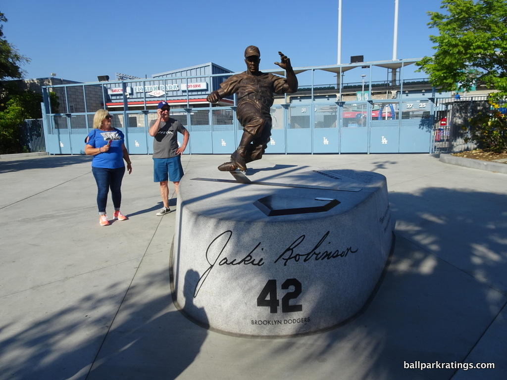 Dodger Stadium Jackie Robinson statue