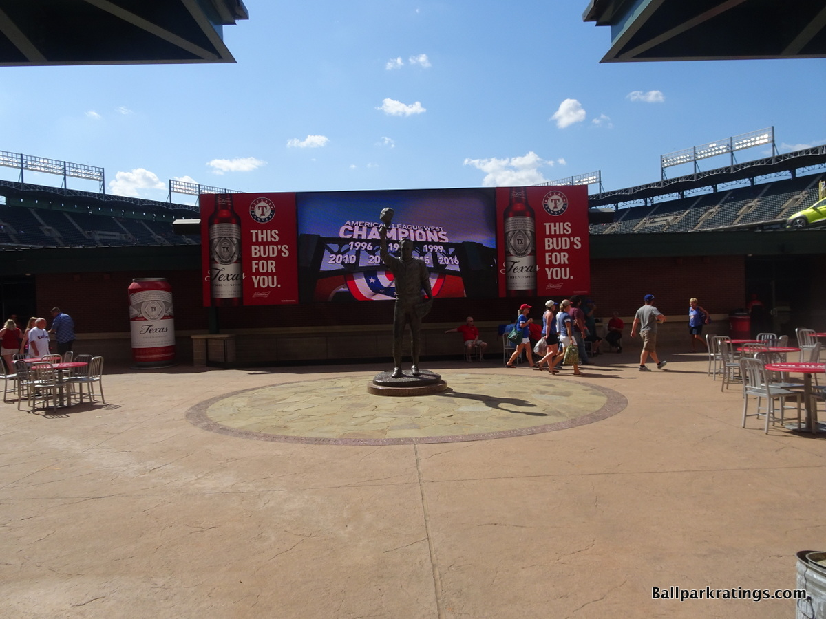 Globe Life Park center field plaza