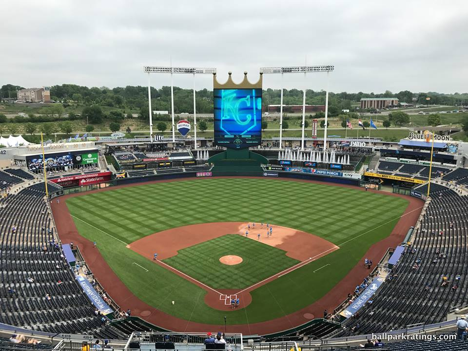 Kauffman Stadium view