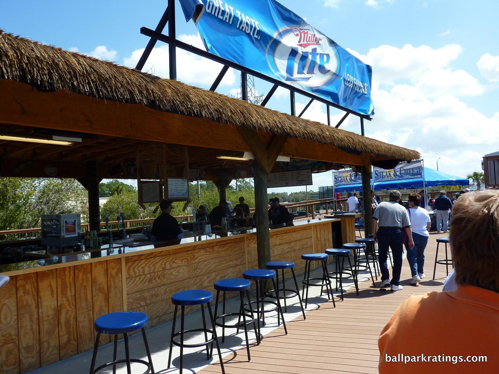 Tiki Bar at Charlotte Sports Park.