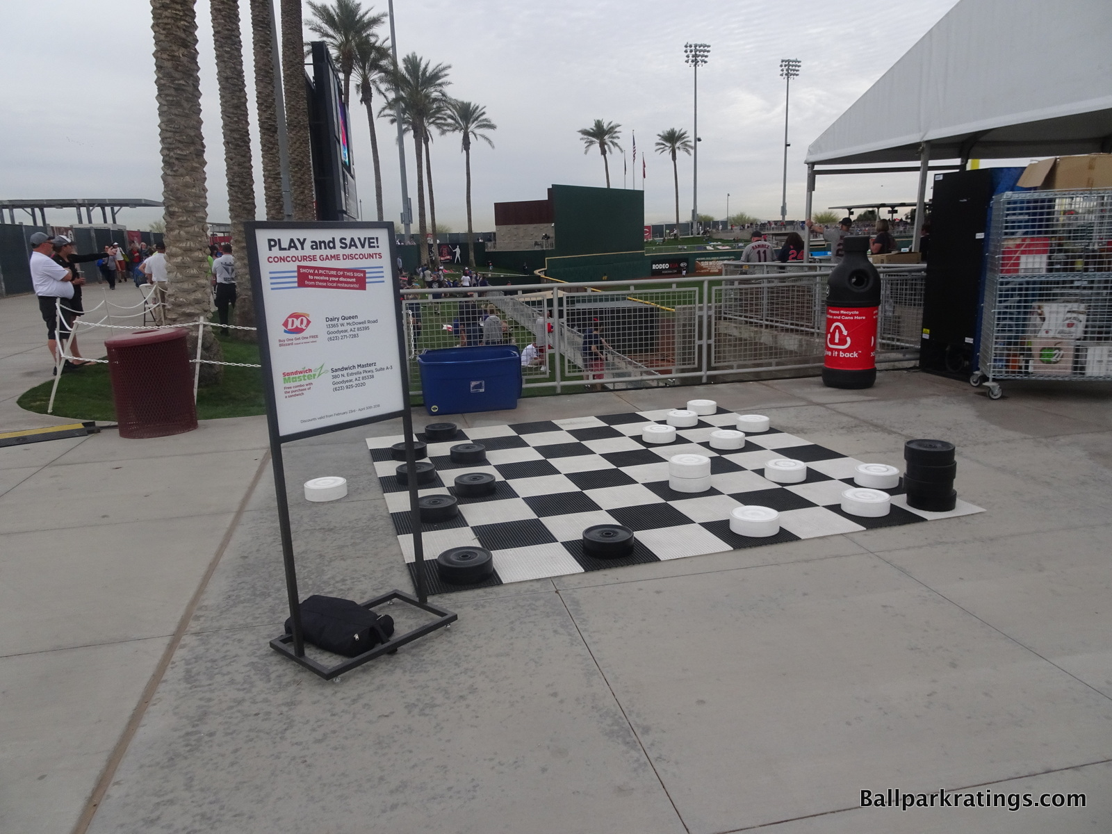 Checkers at Goodyear Ballpark.