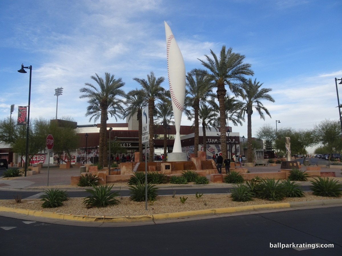 Goodyear Ballpark sculpture exterior