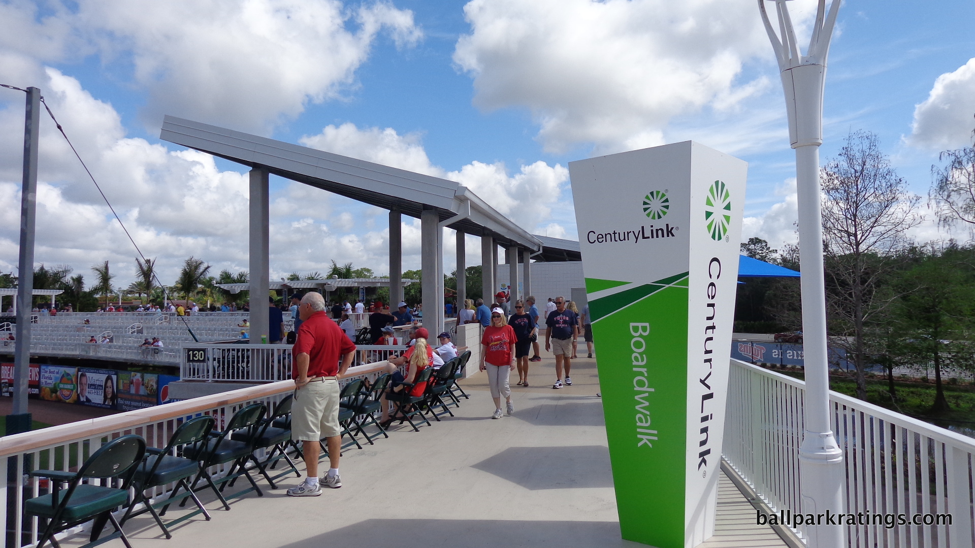 Hammond Stadium boardwalk