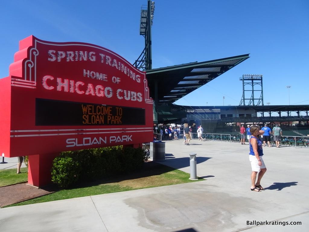 Sloan Park Wrigley Field marquee